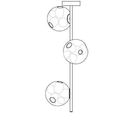 38.3V Ø14,2 x H 90 cm ( Stem )