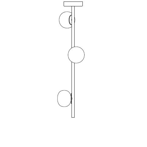 84.3 Ø14,2 H 90 cm ( Stem )