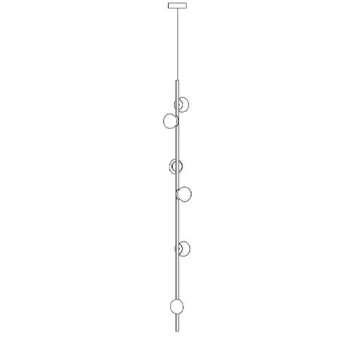 84.6 Ø11,6 H 1,80 cm ( Stem  Vertical )
