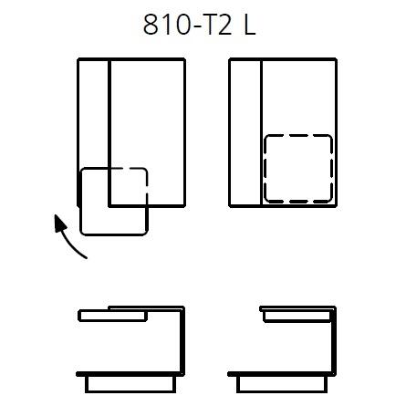 810-T2_ Left_ 45 x 62-74 x H 36 cm