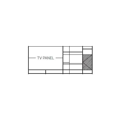 390 x 45 x H 169 cm (TV PANEL)