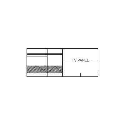 420 x 45 x H 169 cm (TV PANEL)