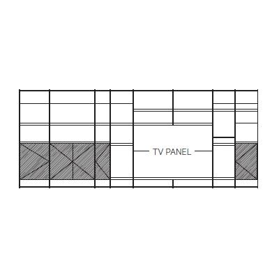 630 x 45 x H 259 cm (TV PANEL)
