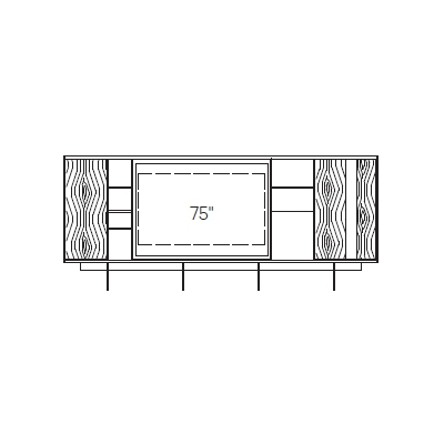 3_ 410 x 40 x H 175 cm (TV MODULE)