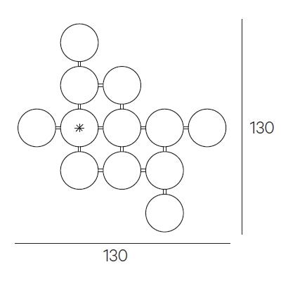 130 x 130 cm (Ø 23,5 cm)