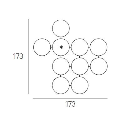 173 x 173 cm (Ø 40 cm)
