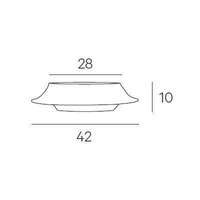 Ø 42 x H 10 cm