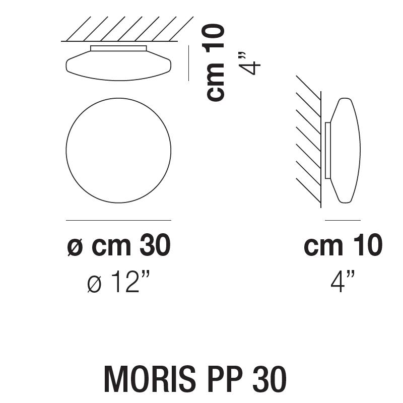 MORIS PP 30_ 30 x H 10 cm