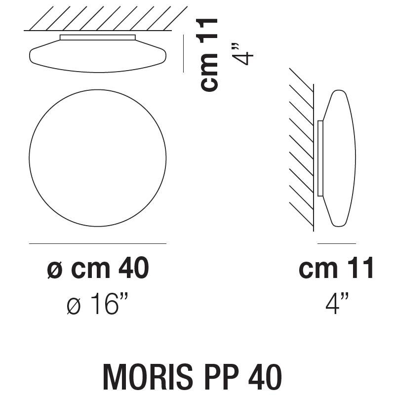MORIS PP 40_ 40 x H 11 cm