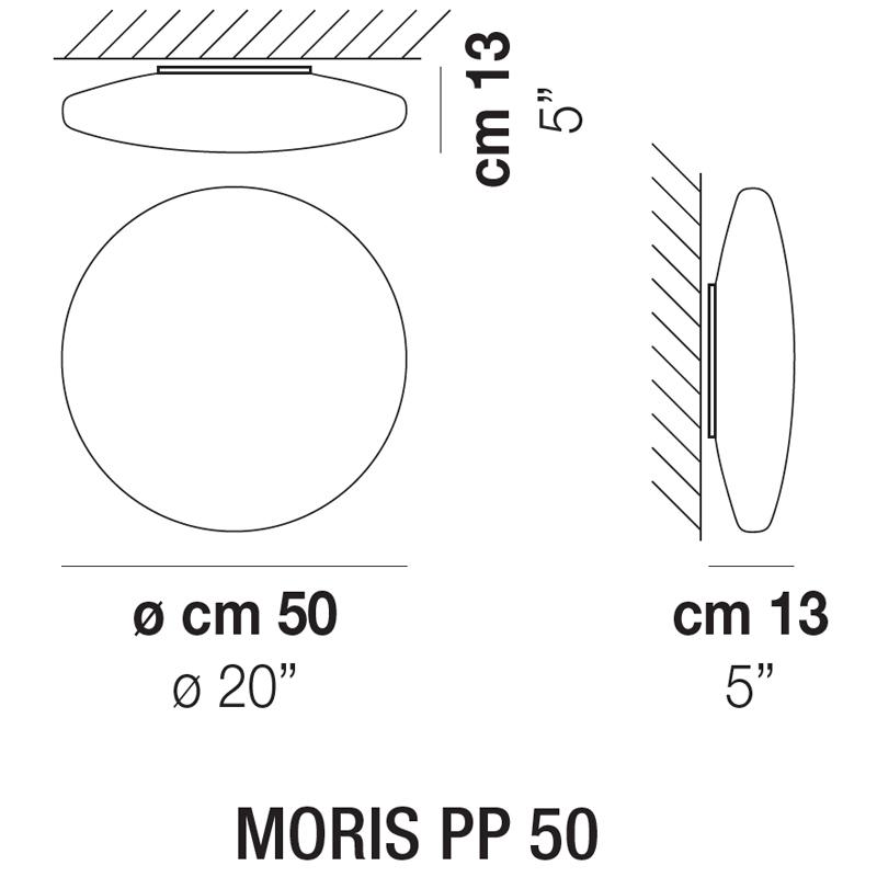 MORIS PP 50_ 50 x H 13 cm