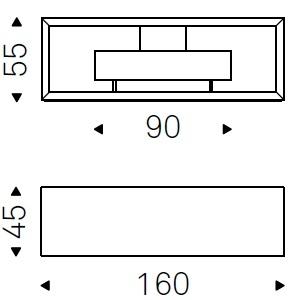 Boxer_ 160 x 45 x H 55 cm