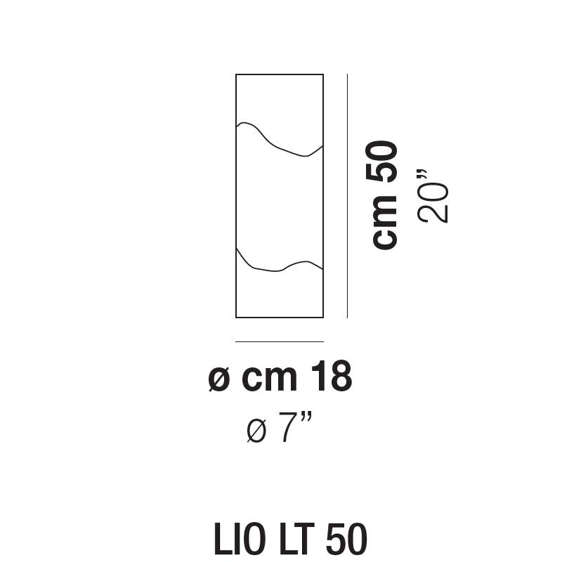 LIO LT 50 _ Ø 18 x H 50 cm