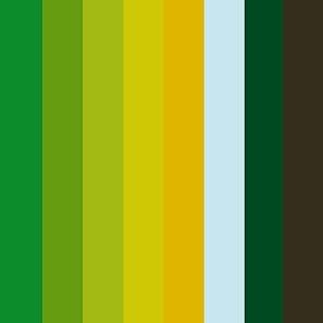 Grün palette