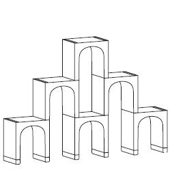 C_ 180 x 30 x H 125 cm