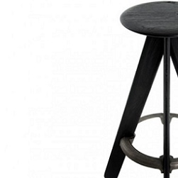 Slab Bar Stool - Negro