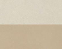 Bicolor leather sand / paper white