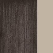 Metallo bronzato / Tessuto Beige