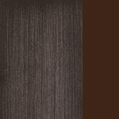 Bronzed metal / Dark brown Fabric