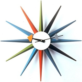 Sunburst Clock_ Multicolor