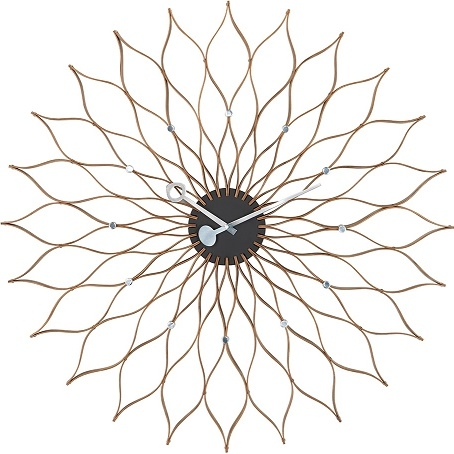 Sunflower Clock _ Birch