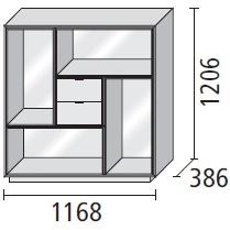 3_ 116.8 x 38.6 x H 120.6 cm