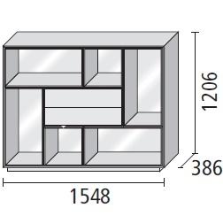 5_ 154.8 x 38.6 x H 120.6 cm