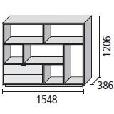 6_ 154.8 x 38.6 x H 120.6 cm