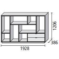 8_ 192.8 x 38.6 x H 120.6 cm
