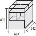 66.4 x 94.2 x H 83.9 cm