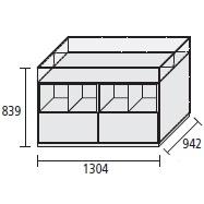 130.4 x 94.2 x H 83.9 cm