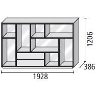 7_ 192.8 x 38.6 x H 120.6 cm