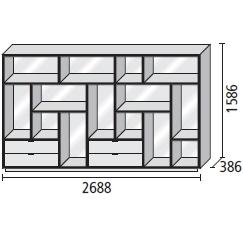 12_ 268.8 x 38.6 x H 158.6 cm