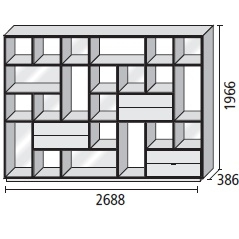 21_ 268.8 x 38.6 x H 196.6 cm