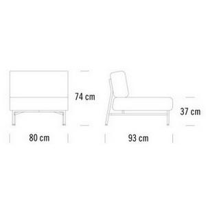 80 x 93 x H 74 cm
