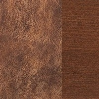 Buffalo leather / walnut