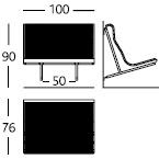 Simple leg / Wallfix