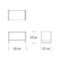 C101_83 x 47 x H 54 cm
