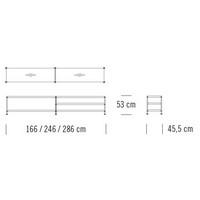 7000/C201_166 x 45.5 x H 53 cm