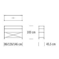 7000/C102_146 x 45.5 x H 103 cm