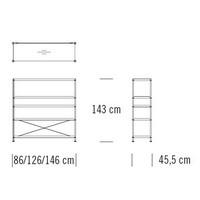 7000/C103_126 x 45.5 x H 143 cm