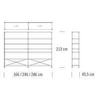 7000/C204_166 x 45.5 x H 213 cm