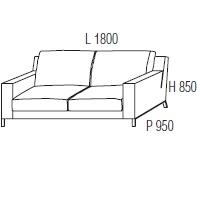 180 x 95 x H 85 cm