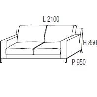 210 x 95 x H 85 cm