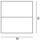 95 x 7 x 95 cm