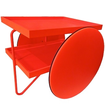 Matt Red lacquered RAL 3026 with Red RAL 3026 structure