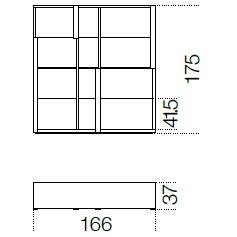 166 x 37 x H 175 cm