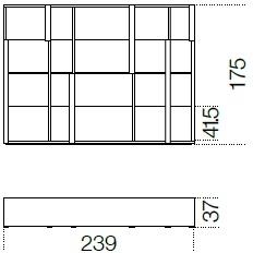 239 x 37 x H 175 cm
