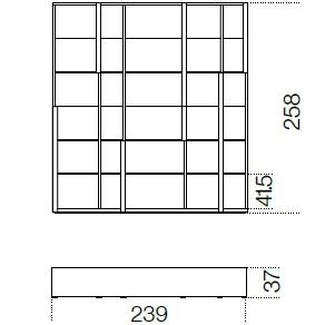 239 x 37 x H 258 cm