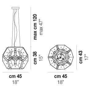 AUREA SP 11_ 45 cm x 43 x H 38 cm; Max 120 cm