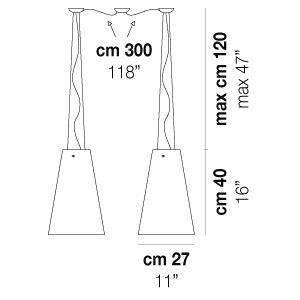 CLEO SP D2_ 27 cm x 18 cm x H 40 cm